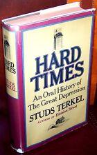 Hard Times - Studs Terkel - 1970 FIRST EDITION!!