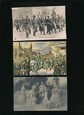 3 Karten mit Kaiser Wilhelm II. von Deutschland  (O11)