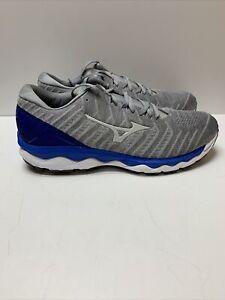 Mizuno Men's Wave Sky 4 WAVEKNIT Running Shoe Gray Blue Sz 10.5 D EU 44