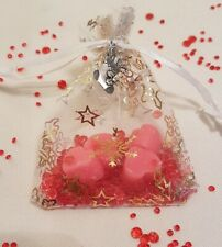 Christmas table spice scent heart wax melts in organza bag Wedding Favour gifts