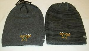 NHL Dallas Stars Reversible Long Knit Hat By Reebok - Adult One Size - New
