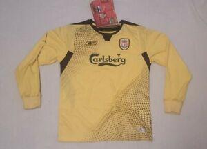 BNWT Reebok Liverpool Away Shirt 2004-2005 Size 30/32 LONG SLEEVE RARE