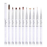 BORN PRETTY Nail Painting Brush Pen White UV Gel Liner Brushes  Tools