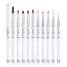BORN PRETTY Nail Brush Painting Pen Brush White Liner Brush Nail Art Tools
