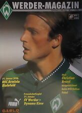 Programm 1997/98 SV Werder Bremen - Bielefeld / Dynamo Kiew (Friendly)