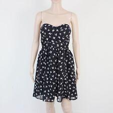 Miso Womens Size 10 Black Grey Lightweight Short Dress