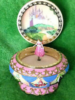 Disney Sleeping Beauty Music Box Princess Aurora Round Jewelry Box