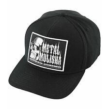 Metal Mulisha Men's Point Curved Skull and Helmet Motocross Logo Flexfit Hat