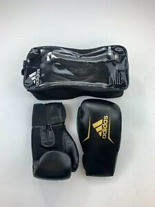 Adidas Speed 75 10 oz Black / Gold Boxing Gloves New