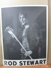 black and white Rod Steward Vintage Poster 1970's Inv#G385