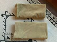 Vintage Gold Cotton Velvet Curtains Pair Rod Pocket 2 Panels 40 X 81.5 Boho Warm