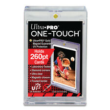5 Ultra Pro One Touch Magnetic Thick Card Holders 260pt UV Gold Magnet