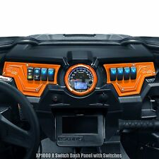 Polaris RZR XP1000 2 Piece Dash Panel Includes (6) Switches Orange Powdercoated