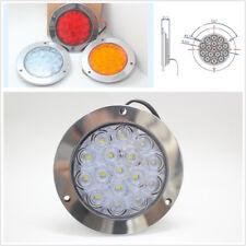 1Pc 16-LED 12V 24V Round Clear Lens White Truck Tail Lights Back-up Reverse Lamp