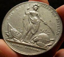 1736 Cistern Colonial Medal Die Trial in Pewter Betts 169