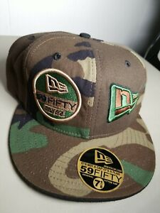 New Era Logo Wool Made Usa Camouflage 59Fifty Hat Fitted 7 1/8 Cap hip hop rap