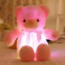 BOOKFONG Creative Light Up LED Teddy Bear Stuffed Animals Plush Toy Pop New