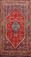 Vegetable Dye Bidjar Geometric Traditional Area Rug Wool Hand-knotted 4x6 Carpet