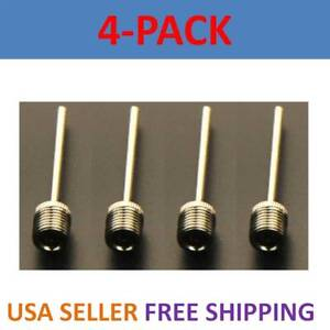 4x Sports Inflating Needle Pin Nozzle Football Basketball Soccer Ball air Pump
