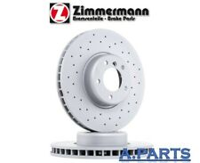 Zimmermann 2X Disco de Freno Perforado Ø 330mm Trasero BMW 5ER F10/F11