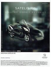 Publicité Advertising 018  2011  Peugeot scooter Satelis 125