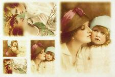 Carta di riso-vecchie foto mamma & figlia 2-per decoupage scrapbooking Foglio