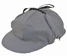 1cb3bd9e Adult Sherlock Holmes Detective Mystery Hat Cap Black and White Houndstooth