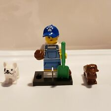 Lego Series 19 Dog Sitter/Walker Daschund Bulldog Pet Animal New 71025