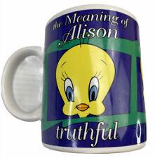 Vintage Tweety Bird The meaning of Alison Ceramic Coffee / Tea Mug 370ml 1998