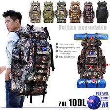 70L/100L Outdoor Military Tactical Backpack Rucksack Camping Hiking Trekking Bag