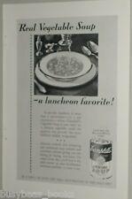 1929 Campbells Soup advertisement, Vegetable Soup