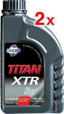 2x Fuchs Titan PERFORMANCE XTR 5W30 SINTETICO OLIO MOTORE 1 LITRO