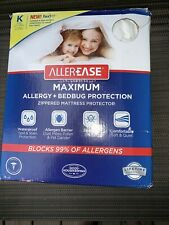 AllerEase Maximum Allergy & Bed Bug Protection Zippered Mattress Protector King