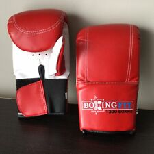Pair Red Black White Boxing Fit Boxing Gloves Size M #404