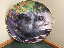 Franklin Mint Kitty Cat Plate - Sitting Pretty