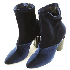 Vero Cuoio Stiefel Gr. 38,5 Blau Samt Damen Schuhe Boots