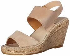 Andre Assous Womens Sandals Espadrille Wedge Size 10 Brenda Taupe Tan Heels