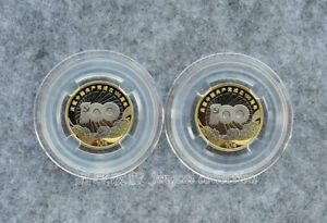 2pcs 2021 China 100th Anniversary Founding Communist Party of China 10-Yuan Coin
