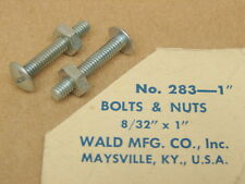 """Vintage New NOS Wald Bicycle 8/32"""" x 1"""" Bolts & Nuts (Two)"""