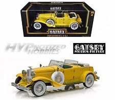 GREENLIGHT 1:18 THE GREAT GATSBY 2013 DUESENGBERG II SJ DIE-CAST YELLOW 12927