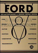 1939 1940 Ford V8 Motor und Gehäuse Reparatur Shop Manual -tranny Bremsen Achsen