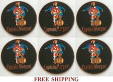 CAPTAIN MORGAN 6 BEER BAR TOP SPILL MAT RUBBER COASTERS NEW