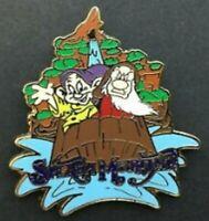 SPLASH MOUNTAIN Disney Pin 57807 WDW Mystery Snow White Dwarfs Grumpy & Dopey
