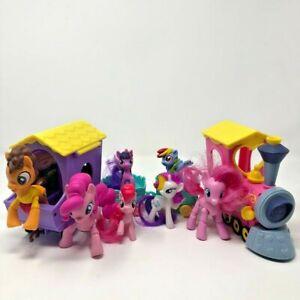 My Little Pony Rainbow Pastel Train With 9 Ponies Pinkie Pie