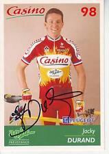 CYCLISME carte cycliste JACKY DURAND équipe CASINO 98 AG2R signée