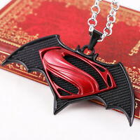 Punk Hip Hop Batman vs Superman Dawn of Justice Necklace Pendant Chain Jewelry