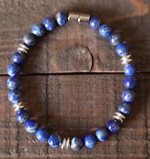 Lapis lazuli Semiprecious Chakra Zen Healing Gemstone Bracelet W/Magnetic Clasp