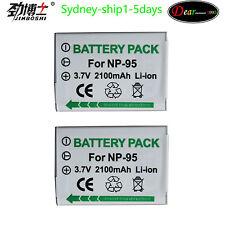 2xNP-95 2100mAh Battery  For Fujifilm X30 X-S1 F30 X100 X100s X100T By AU-ship