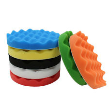 "7pcs Soft Wave Foam Waffle Pad Buffing Sponge Pad Kit 7"" 180mm for Car Polisher"