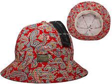 Unisex New Paisley Fisherman Cap Hot Fashion Bucket Hat Vintage Bandana Sun-Red.